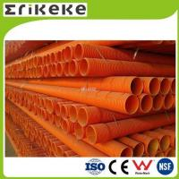 Quality PVC pipe and fittings pvc orange colored corrugated plastic pipe for sale