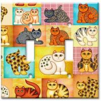 China Animal Theme Wall Plates Cat Collage on sale