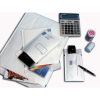 Quality White Elegant Print Business Envelopes , High slip Air Cushioned Mailing Bags for sale