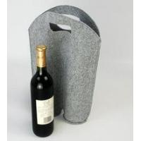Quality 2 bottle felt wine tote bag for sale