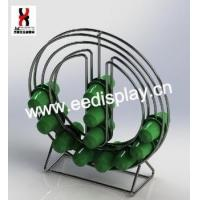 Quality Standing Round Shape Design K-cup Coffee Capsule holder/Double sided mental wire coffee rack for sale