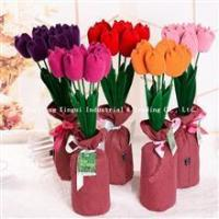 China Flannel Tulip Flowers Bouquet on sale