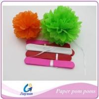 Buy cheap Colorful Tissue Paper Pom Poms for Wedding Decoration in factory price from wholesalers