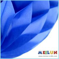 China PAPER CRAFT Blue tissue paper flower honeycomb ball on sale