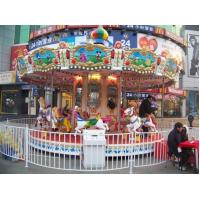 Quality Carousels 3 seats small merry go round for sale
