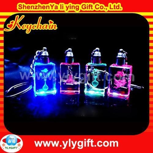 Buy logo led crystal souvenir gift keychain KC-00518-9 at wholesale prices