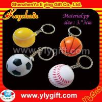 Quality different shape ball plastic keychain KC-00538 for sale