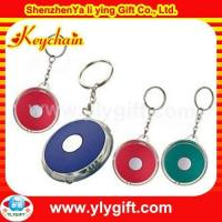 Quality Round logo plastic led keychain for promotion gift KC-00517-2 for sale