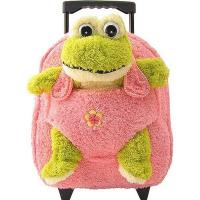 Quality Kids-Beige-Rolling-Backpack-With-Frog for sale