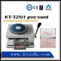 Quality Plastic cards embossing machine for sale