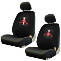 China Front Car Truck SUV Low Back Bucket Seat Covers - Betty Boop Marilyn Monroe Pose Skyline - Pair on sale