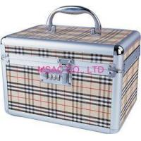 Quality Beige Aluminum Cosmetic Cases / ABS Tool Cases For Carry Cosmetic Tool for sale