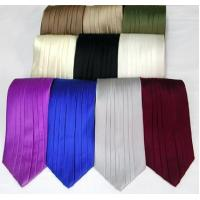Quality Silk Pleated Tie - 8 Colors for sale