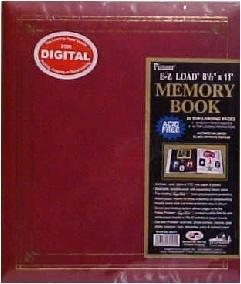 Buy Pioneer E-Z Load 8.5 x 11 Scrapbook Albums - Burgundy at wholesale prices