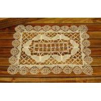 Unique Hand Bobbin Lace butterfly Tray Cloth/placemat-off white
