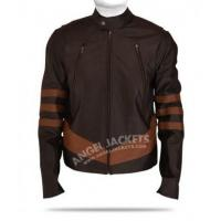 Quality X Men Wolverine Logans Brown Leather Jacket for sale