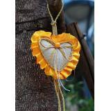 China Gold-rimmed hanging heart sachets on sale