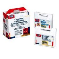 Quality 50 Person ANSI and OSHA Compliance Package / CPR face-shield, latex free for sale