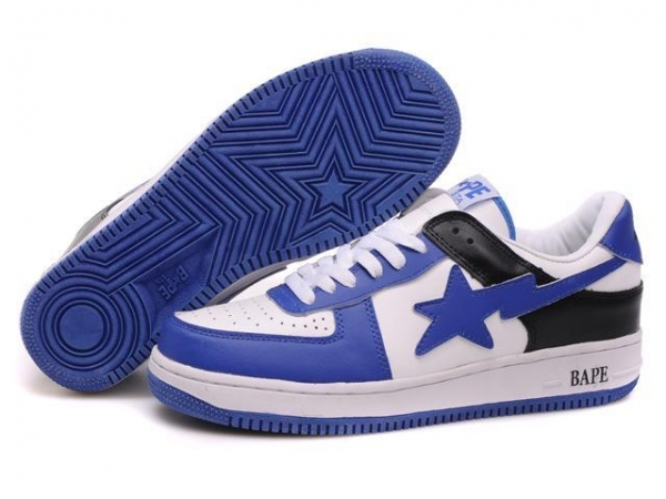 Buy Bape New and Better shoes blue / white at wholesale prices