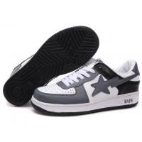 Quality Bape New and Better shoes grey / white / black for sale