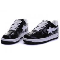 Quality Bape Classic Shoes - Black / White Star for sale