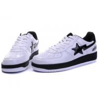 Quality Bape Classic Shoes - White / Black Star for sale