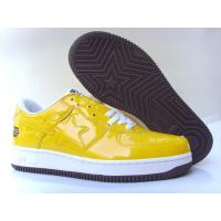Quality Bape Cartoon shoes all yellow / white star for sale