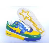 Quality Bape Air shoes yellow / blue / green for sale