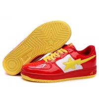 Quality Bape Cartoon shoes red / white / yellow for sale