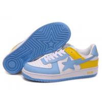 Quality Bape New and Better shoes blue / white / yellow for sale