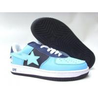 Quality Bape New and Better shoes light blue / black for sale