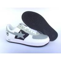Quality Bape New and Better shoes gray / white / black for sale