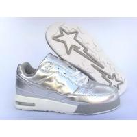 Quality Bape Air shoes silver / white for sale