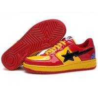 Quality Bape Cartoon shoes red / yellow for sale