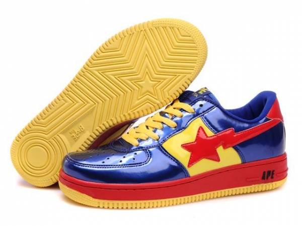Buy Bape Cartoon shoes blue / red / yellow at wholesale prices