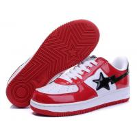 Quality Bape Classic Shoes - Red / White / Black for sale