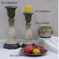 CANDLE STANDS & PLATE & POT
