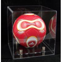 China Acrylic Showcases Sport Wears Display-Football-display-case-clear on sale