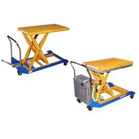 Buy Manual & Battery Power Mobile Scissor Lift Tables - Up To 1500 LB. Capacity at wholesale prices