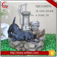 Quality Animal Statues Resin lighted indoor tabletop water fountain for sale for sale