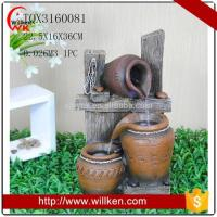 Quality Animal Statues Indoor tabletop polyresin water fountain with light for sale