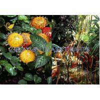 Quality Chihuly Style Hand Made Glass Sculpture For Garden Decoration YJ-15 for sale