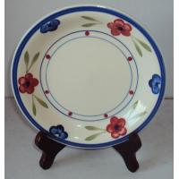 Quality STONEWARE 10.5 Flat Plate Decor No. 5328 for sale