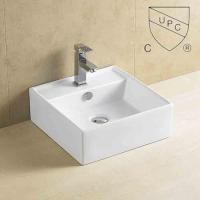Buy cheap art counter basin Porcelain Counter Top Wash Hand Basins from wholesalers