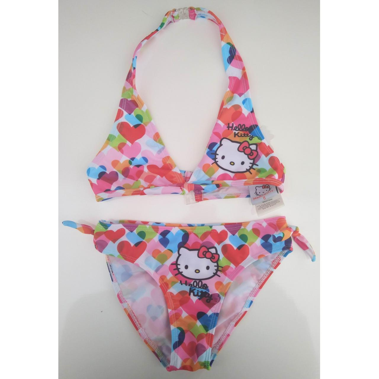 Quality KIDS SWIMSUITS hello kitty and heart print bikini for sale