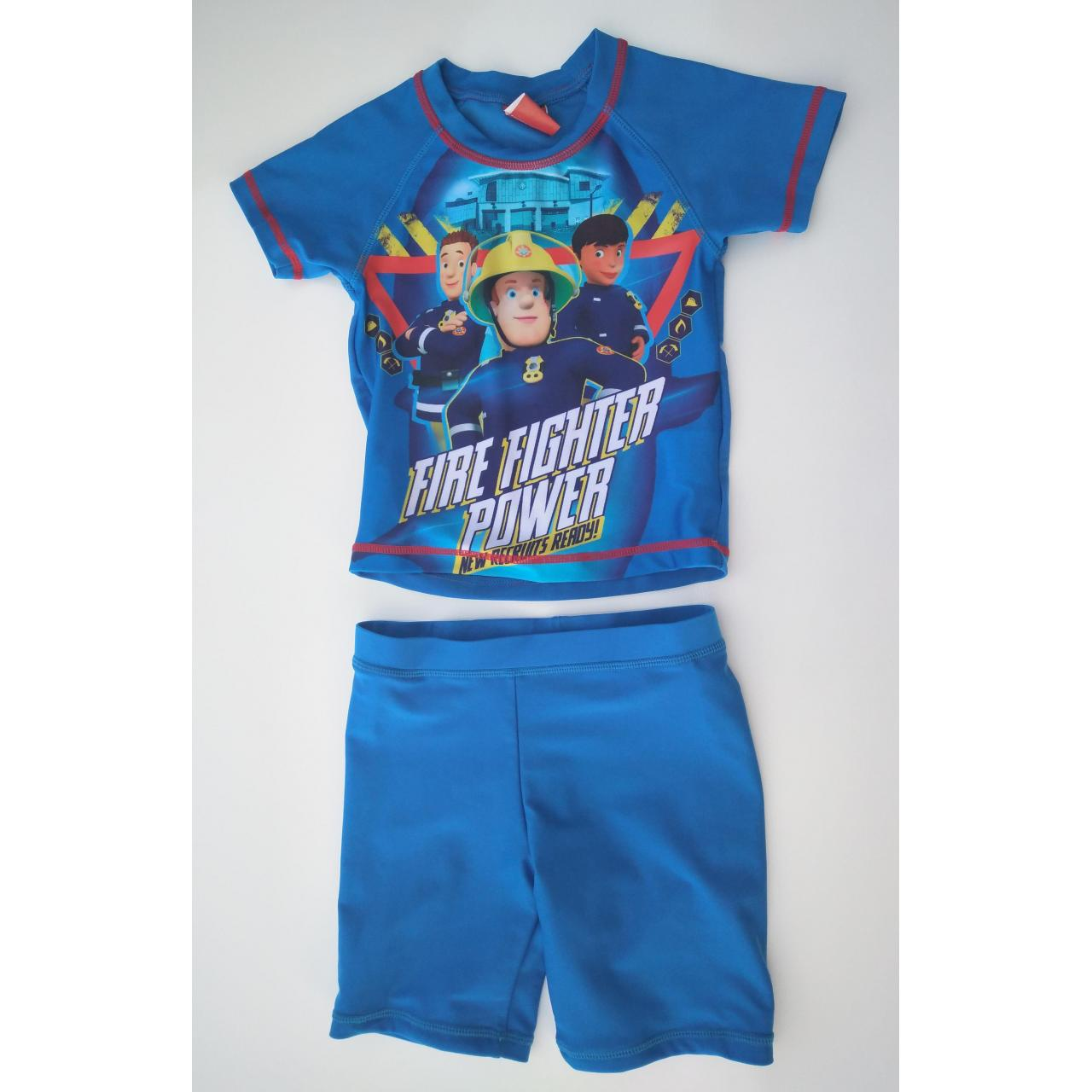 Quality KIDS SWIMSUITS Fire fighter power boy rashguard set for sale