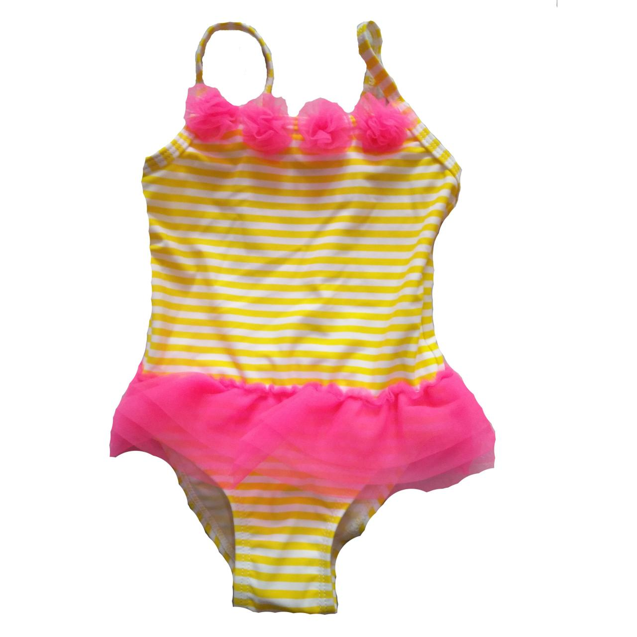 Quality KIDS SWIMSUITS Kids 3D flower and ruffle one-piece swimwear for sale