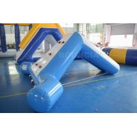 Buy cheap 0.9mm Blue Color PVC Tarpaulin Swimming Pool Small Water Slide from wholesalers