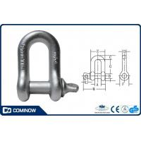 G210 US type Drop Forged Screw Pin Chain Shackle Galvanized / Dee Shackle
