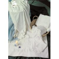 China Star Hotel Used White 100% Cotton Jacquard Terry Towel on sale